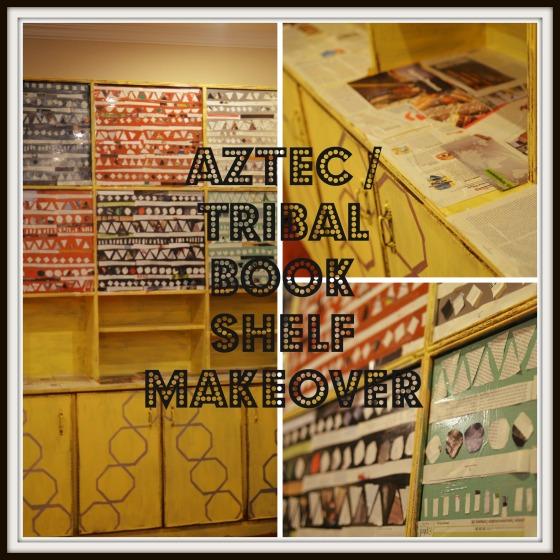 Aztec/Tribal Book Shelf