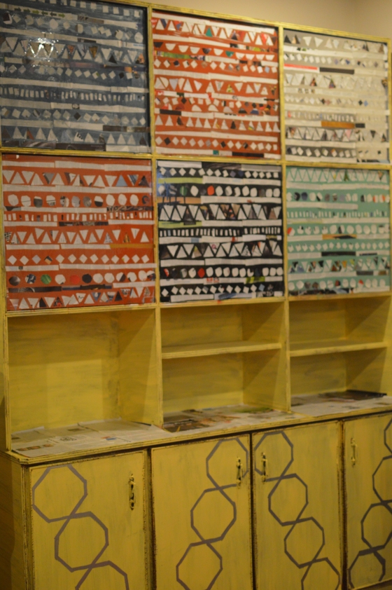 Aztec/ Tribal Book Shelf After
