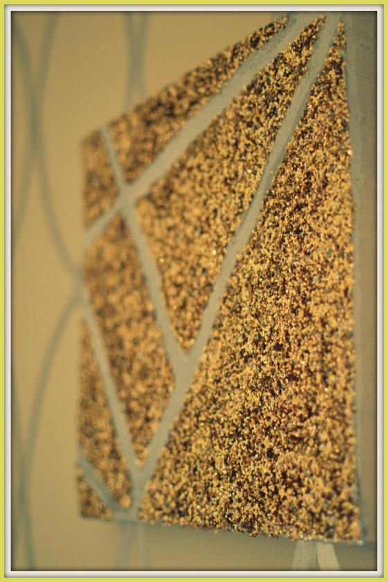 Golden Glitter Wall Art