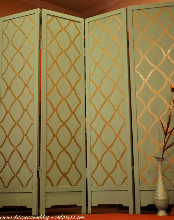 coaster furniture room dividers room divider makeover with hand stenciling delicious and diy