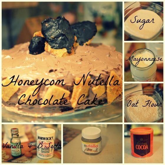 Honeycomb Nutella Chocolate Cake