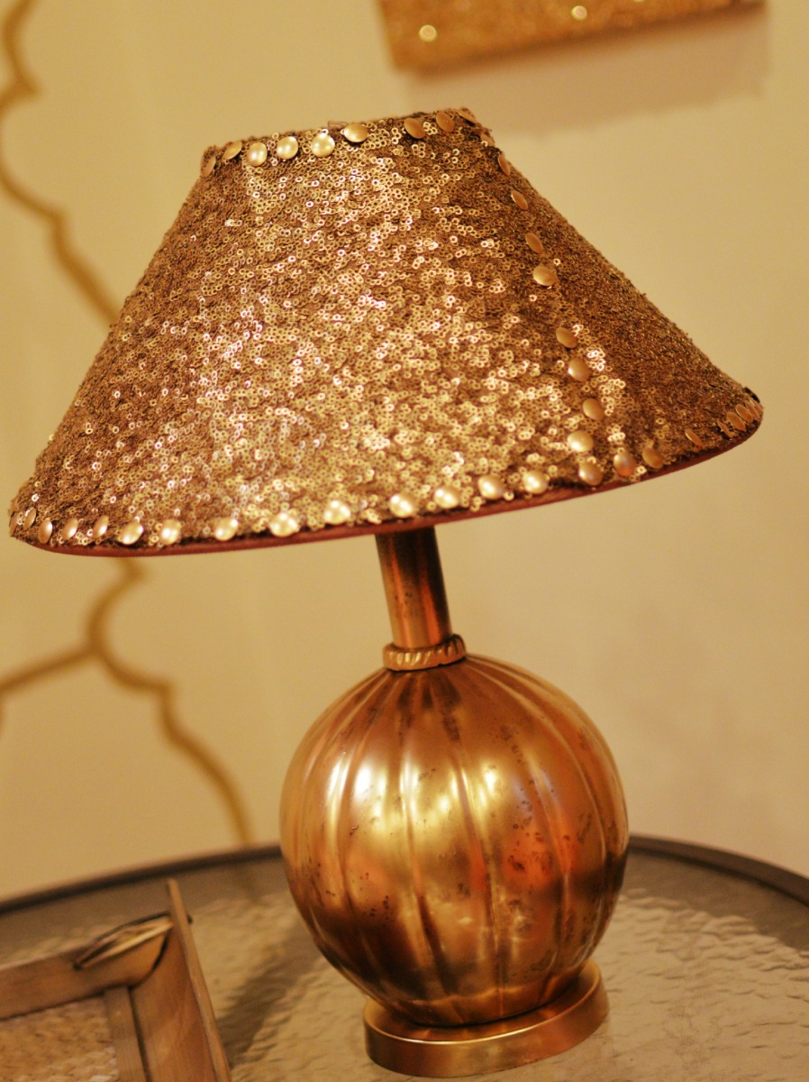 No Sew Lampshade Makeover