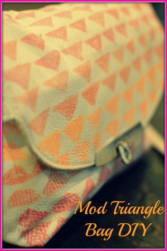 DIY Mod Triangle Bag