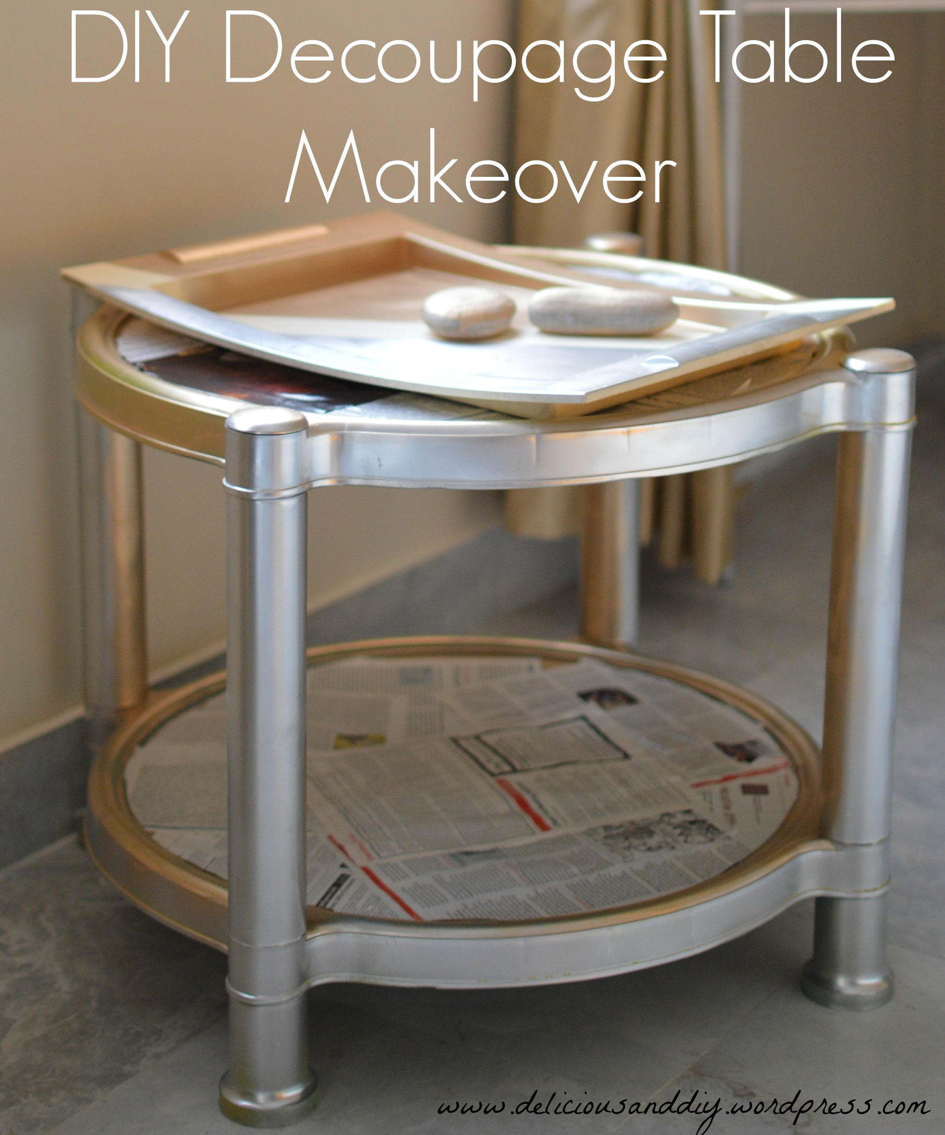 Recycled Magazine Paper Table Delicious And Diy
