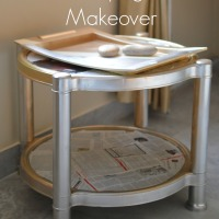 DIY Decoupage Table Makeover