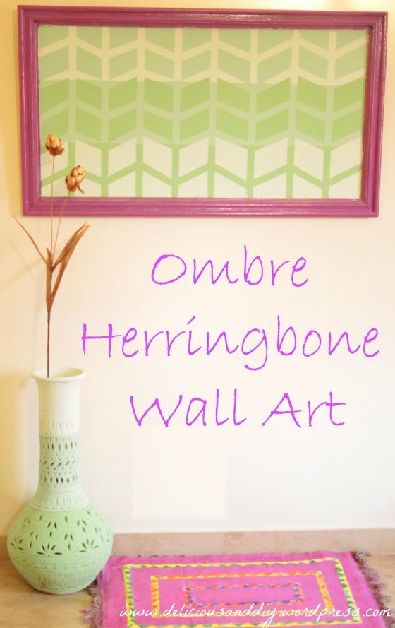 Ombre Herringbone Wall Art