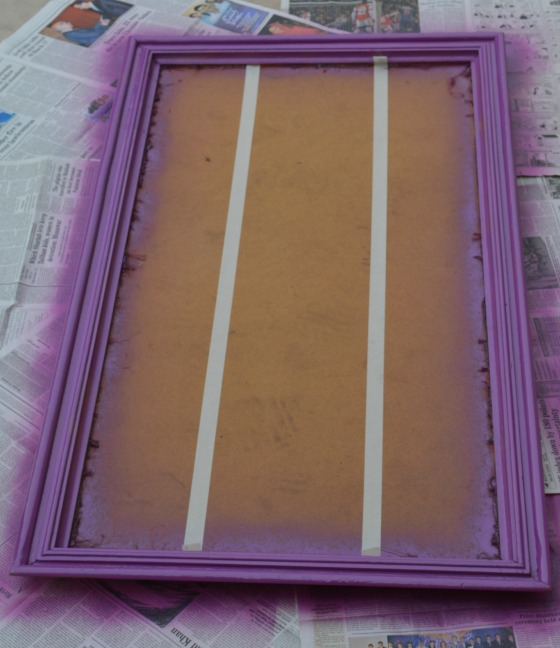 spray paint the frame purple