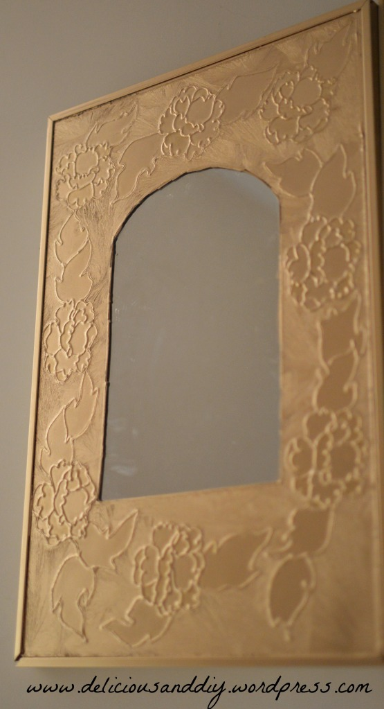 gold mirror after