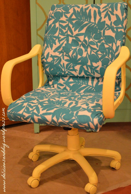 office chair floral